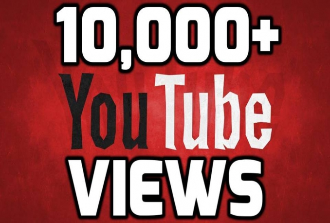 Give you 10,000+ Real High Retention YouTube views>>Instant start>>