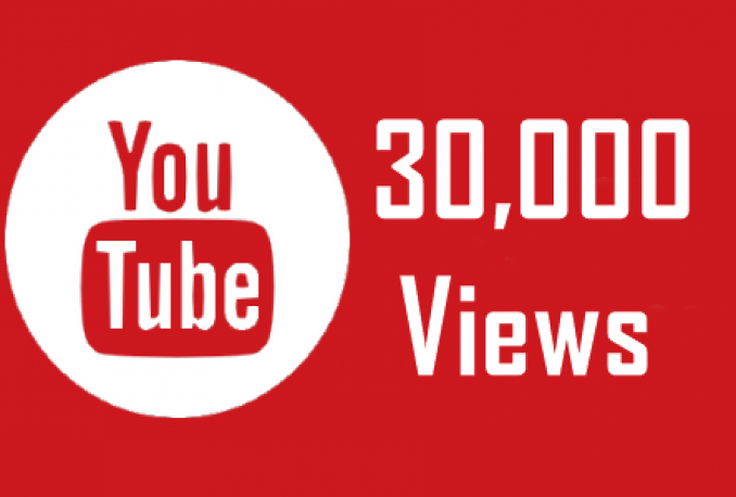give you High Quality 30000++ Youtube Views