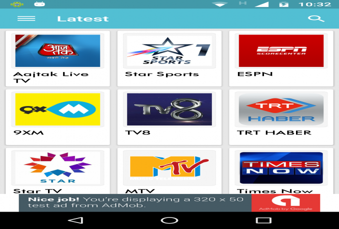 design a live tv android app with adv integretion