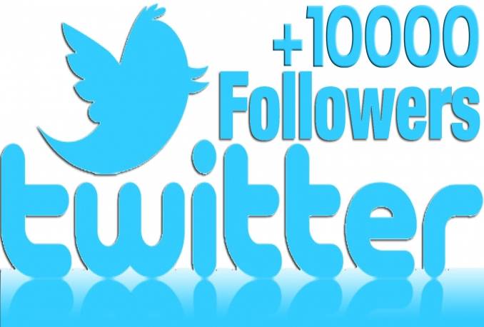 Amazing 10,000 Twitter followers Non-drop High quality