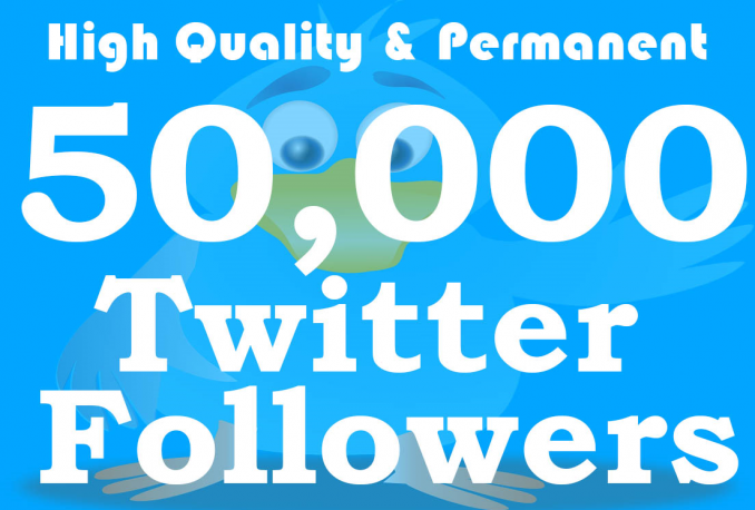 Add 50,000 Twitter Followers