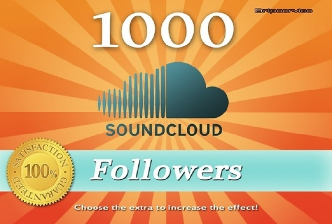 Provide 1000 Soundcloud Followers Instant start