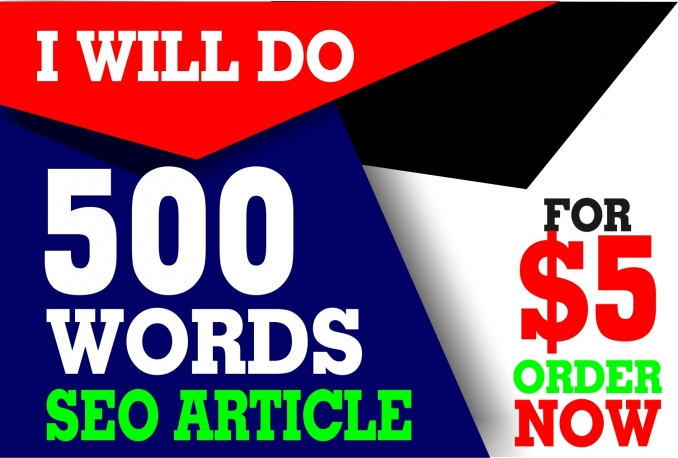 write original SEO article of 500 words