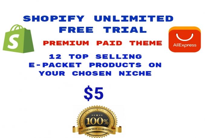 register shopify unlimited free trial with premium theme