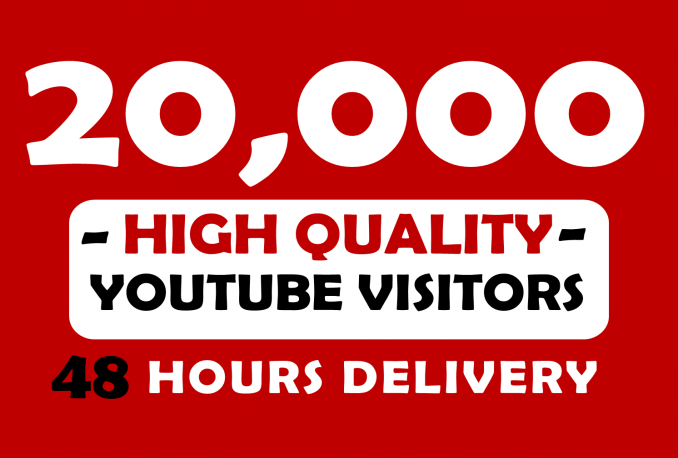 Give you 20,000+ Real YouTube views