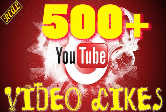 Give you 500 Real Youtube video likes