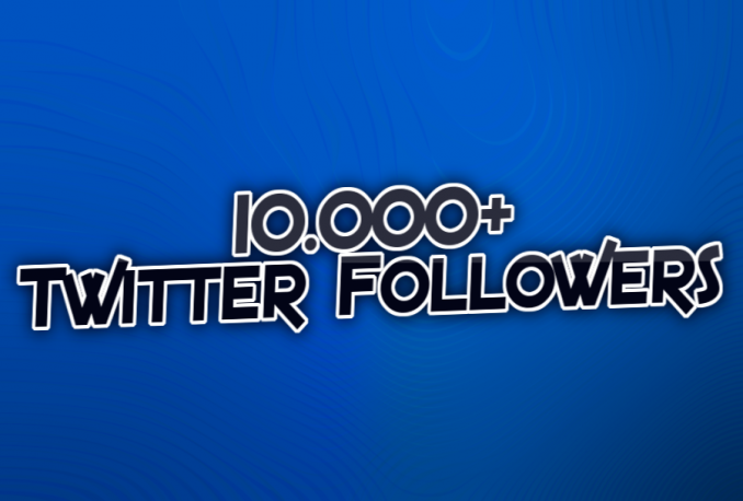 give you 10000+ HQ International Twitter followers in 48 hours