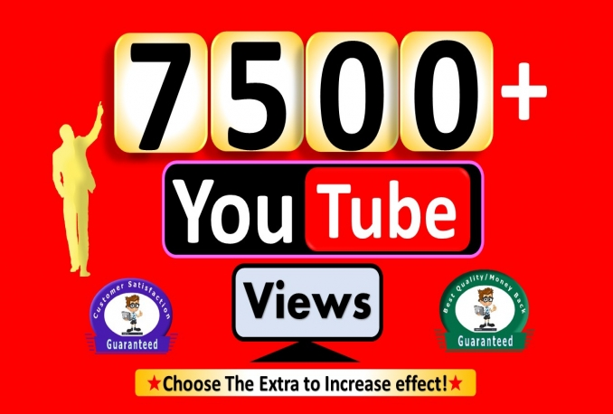 Promote 7,500+ YouTube Views or 500 Likes, All are Active User, non Drop Guaranteed