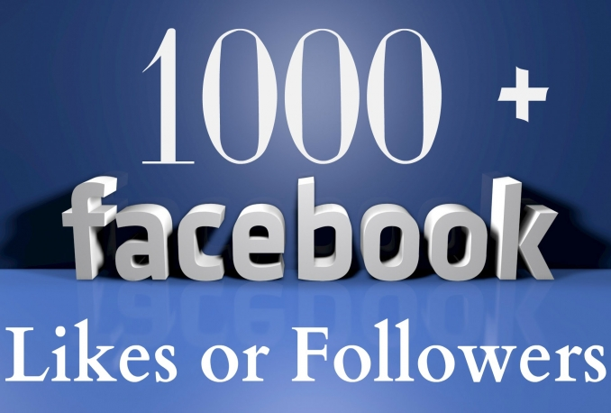 give you 1000 real facebook profile followers