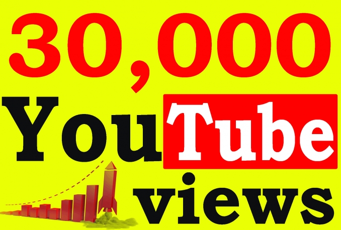 Send you Real 30,000 Guaranteed Youtube views