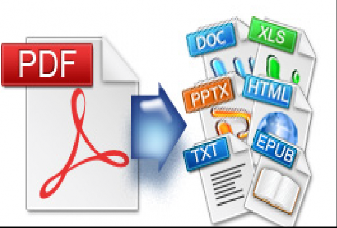 convert pdf to word, images or ppt