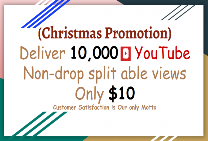YouTube 10,000 views (Christmas Promotion)