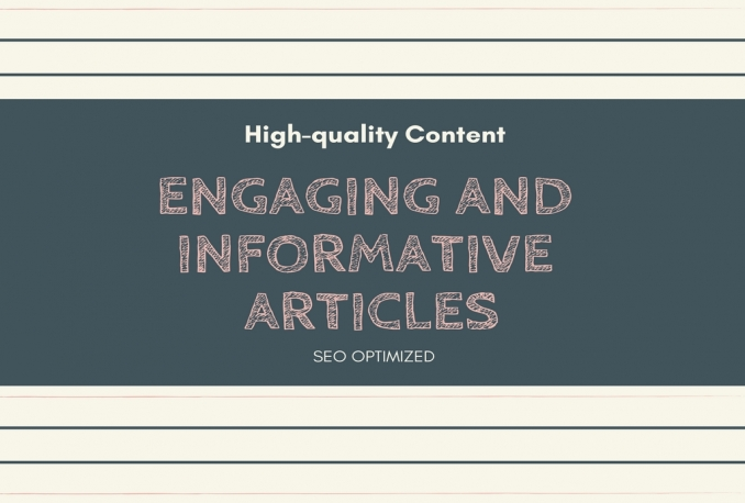 write 2 engaging and informative articles up to 1000 words