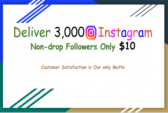 deliver 3000 Instagram Followers For short time