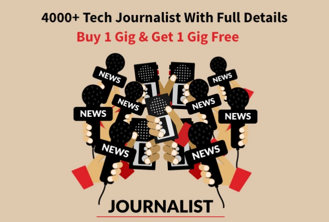 Give You 4000+ Tech Journalist lists