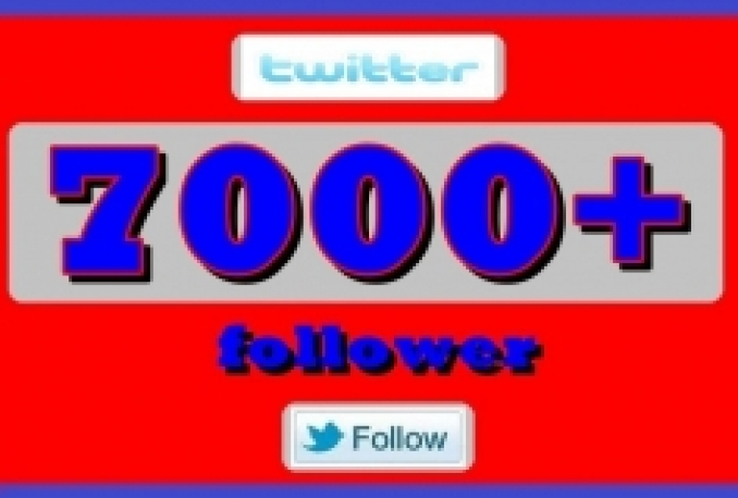 give you 7000+ Non Drop HQ Twitter followers Instant 24hrs