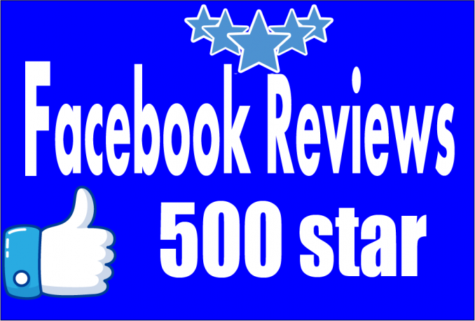 Give Facebook 500+ Five star Reviews to your Fan page