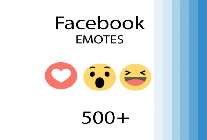 I will add 500+ Facebook EMOTES to your post