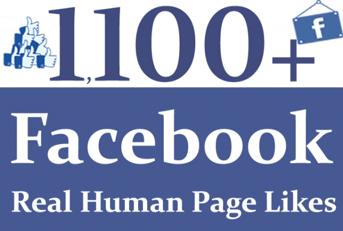 give 1100 non drop facebook fanpage likes