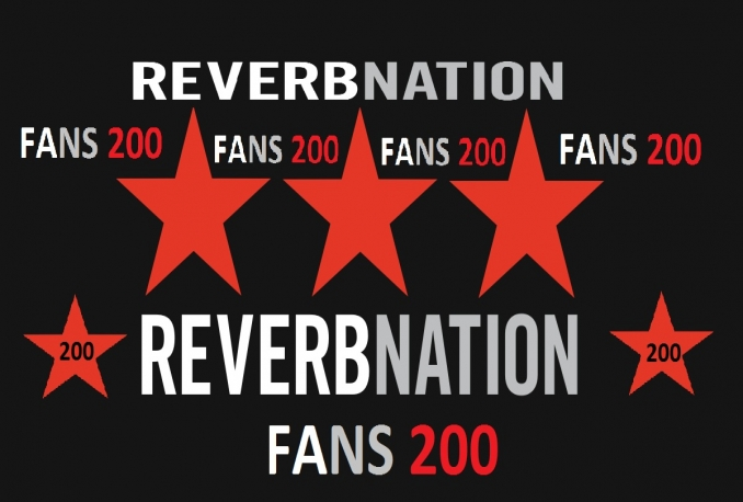 provide 200+ Real Genuine Authe Reverbnation Fans