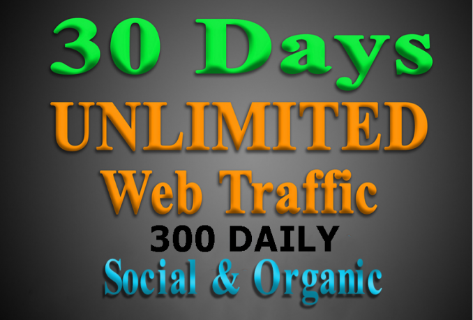 send Social and Organic Web Traffic for 30 Days