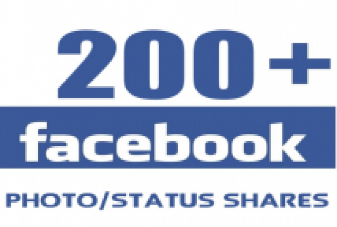 give +200 Facebook shares