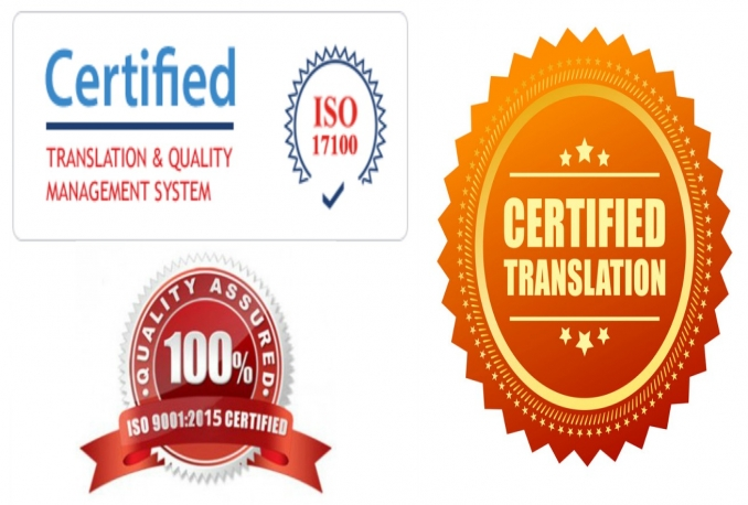 provide certified translation service