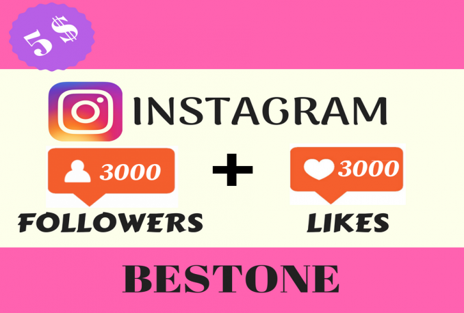 add 3000 followers + 3000 Likes to your instagram account