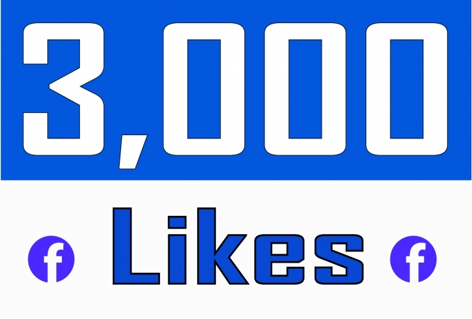 Add 3,000 NON DROP Fan Page Likes
