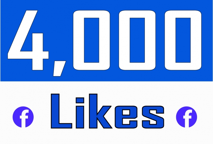 Add 4,000 NON DROP Fan Page Likes