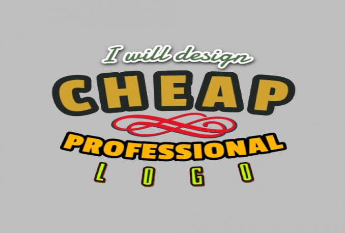 design cheap but professional logo for