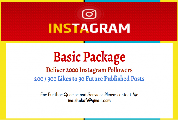 deliver Basic Social Proof Package of Instagarm