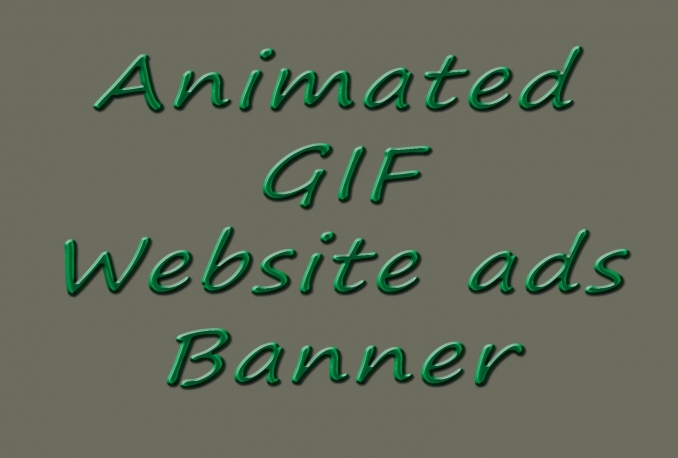design website ads GIF animated Banner