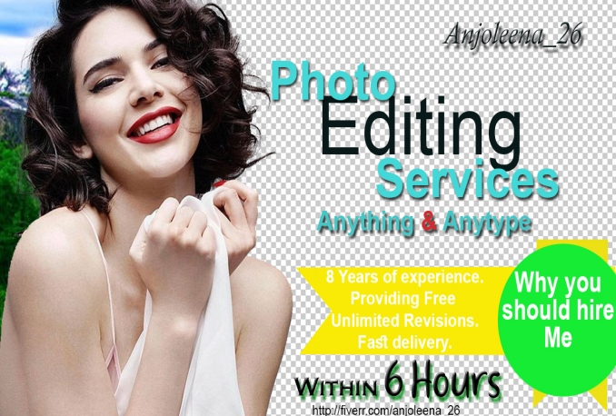 do photoshop editing, photo retouching, enhancement and vector tracing