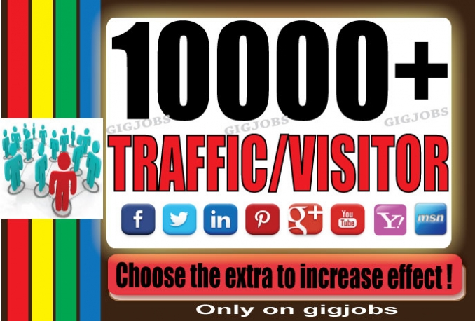 send 10000 Adsense safe Visitors to your website blog From Targeted Sources