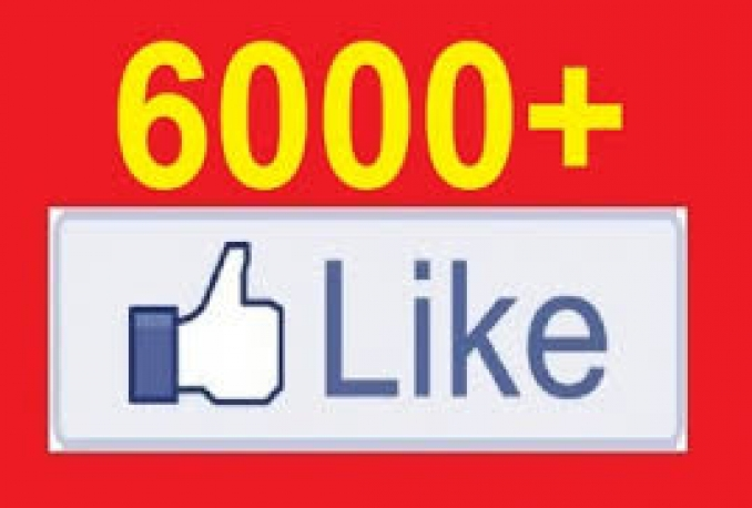 add 6000+ High Quality PERMANENT FACEBOOK LIKES to your FAN PAGE within 48 hours