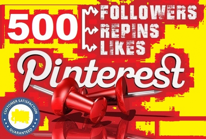 provide 500 Real Pinterest Permanent Followers or Repins or Likes