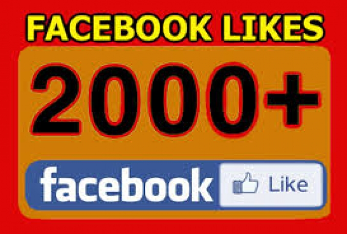 add Real Permanent 2000+Facebook Fanpage,post,comment like