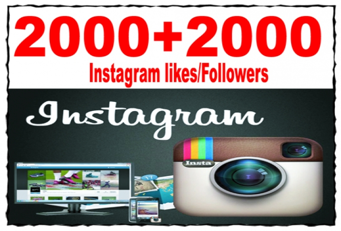 Real looking 2000 Instagram Followers Or 2000 Photo Likes