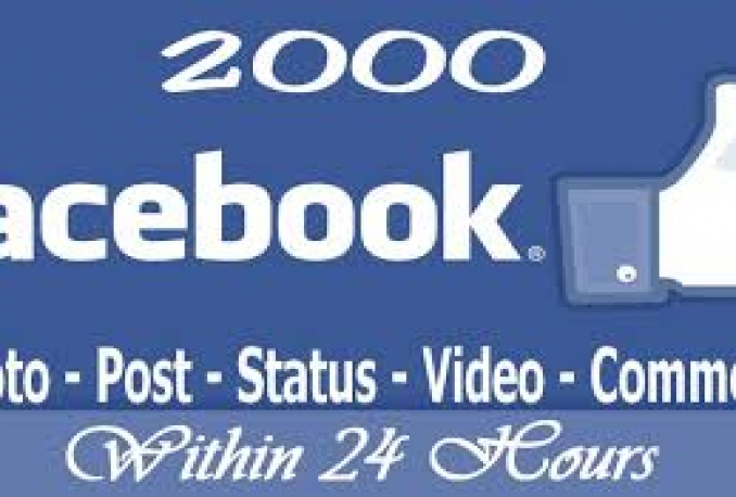 2500 Real Photo, Post, Video, Album Likes