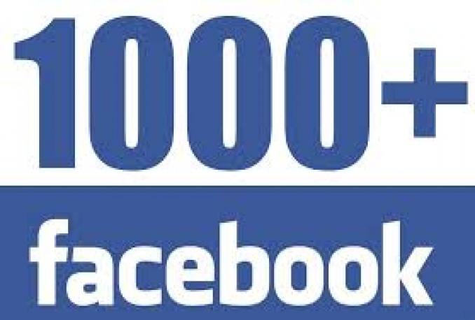 100% Real and Genuine 1000 FACEBOOK Likes To Facebook Fanpage