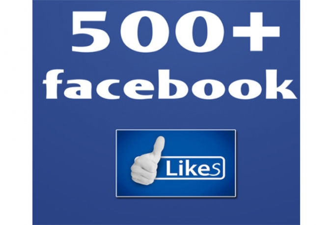 Provide 500 High Quality Facebook Fanpage Likes