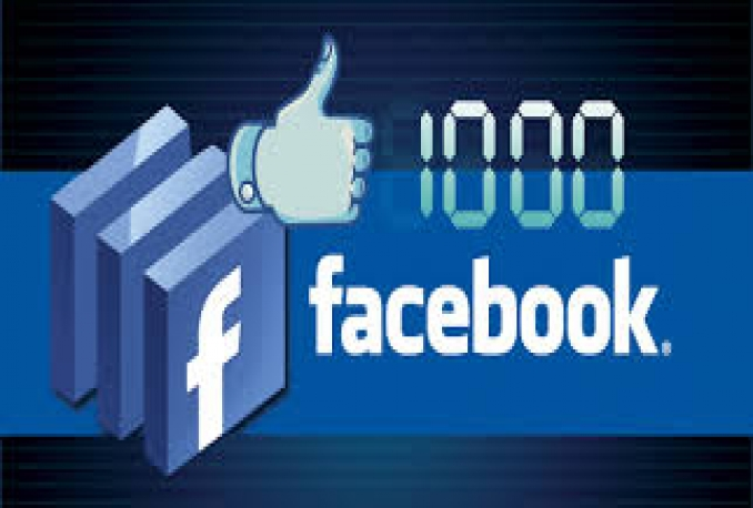 1000 Real and Non Drop Facebook Fan Page Likes