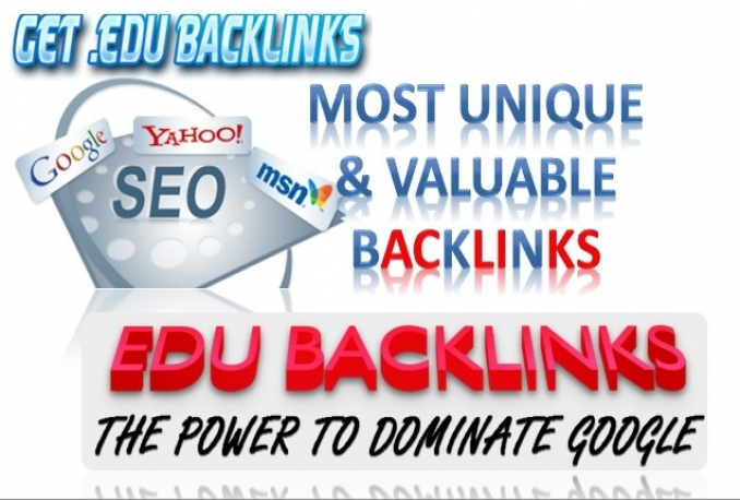 I will build 300 Edu SEO Backlinks Manually