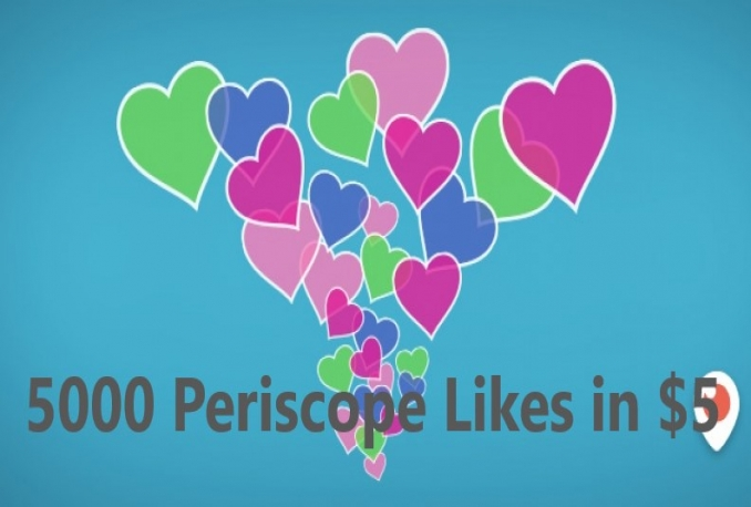 4000 Periscope likes (INSTANT)