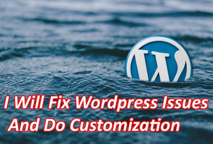 Fix Wordpress Issues And Do Customization