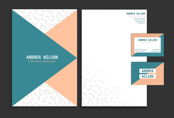 design stationary, business card or letterhead