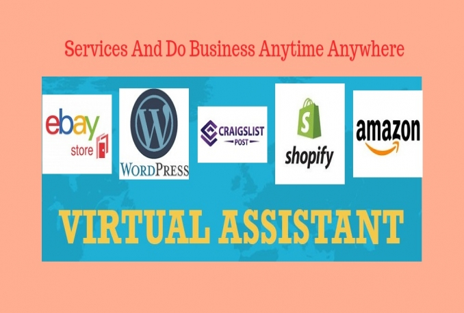 be your Virtual Assistant 6 hours eCommerce Store