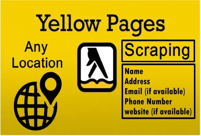 scrape yellow pages for business list for any