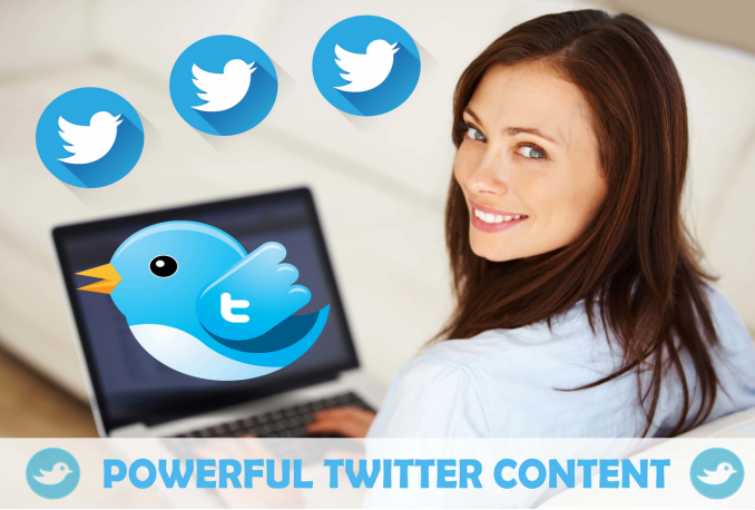 write POWERFUL Twitter content and post with hashtags